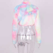 Load image into Gallery viewer, Tie Dye Long Sleeve Crop Sweater