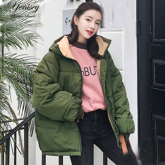 Y2K Cotton Padded Puffer Jacket