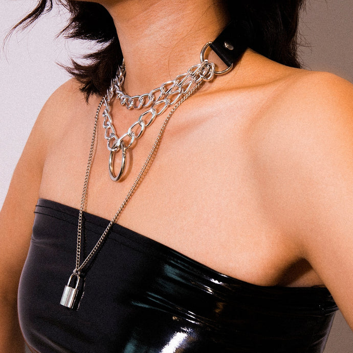 Punk Multi Layer Lock Choker - iCaseLeluxe