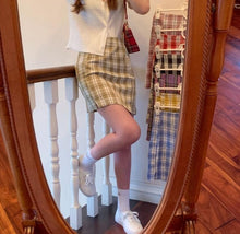 Load image into Gallery viewer, Purple Plaid Mini Skirt - iCaseLeluxe