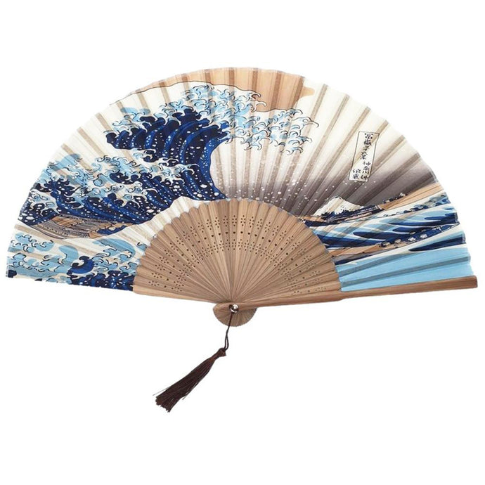 The Great Wave Bamboo Fan - iCaseLeluxe