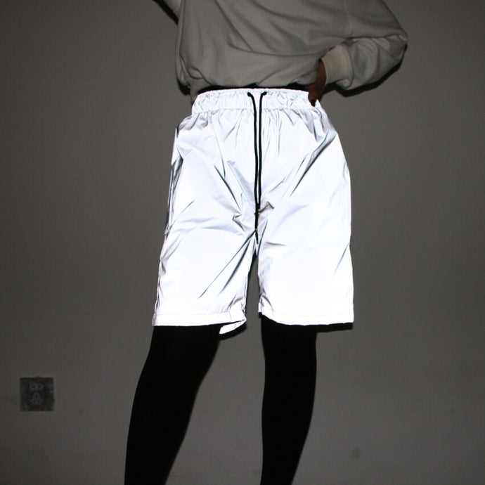 Silver Reflective Shorts  - Unisex - iCaseLeluxe