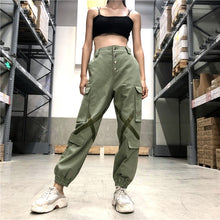 Load image into Gallery viewer, Elastic High Waist Cargo Pants - iCaseLeluxe