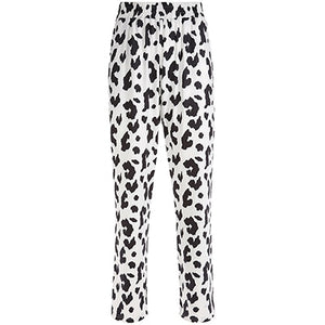 Elastic High Waist Cow Print Pants - iCaseLeluxe