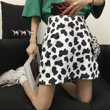 Load image into Gallery viewer, Cute Cow Pattern Printing A-line Mini Skirt - iCaseLeluxe