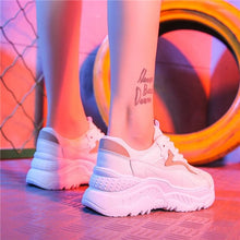 Load image into Gallery viewer, Holographic White Platform Sneakers - iCaseLeluxe