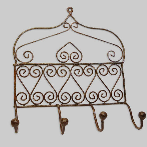 WROUGHT IRON WALL HOOKS
