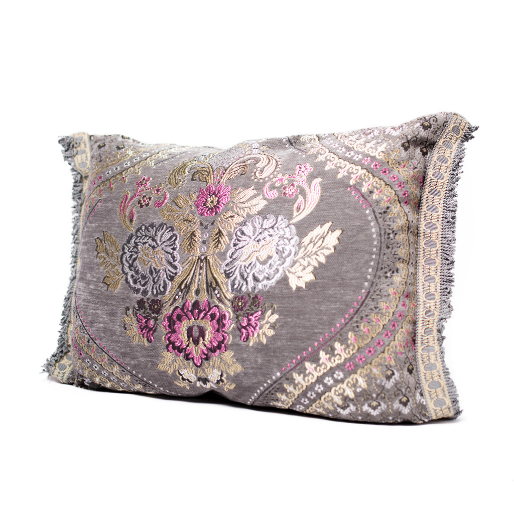 'Silver Grey' Moroccan Cushion