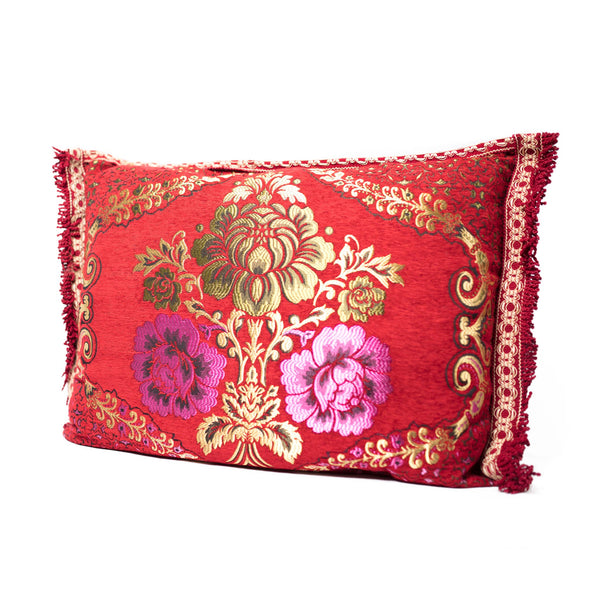 'Red & Pink' Moroccan Cushion