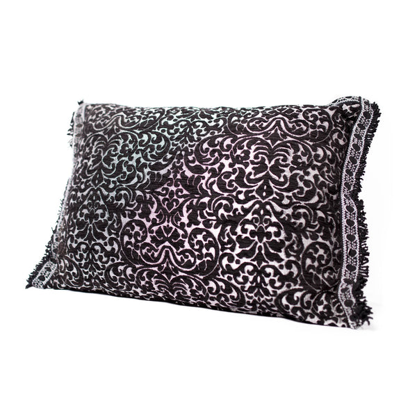 'Black & Silver' Moroccan Cushion