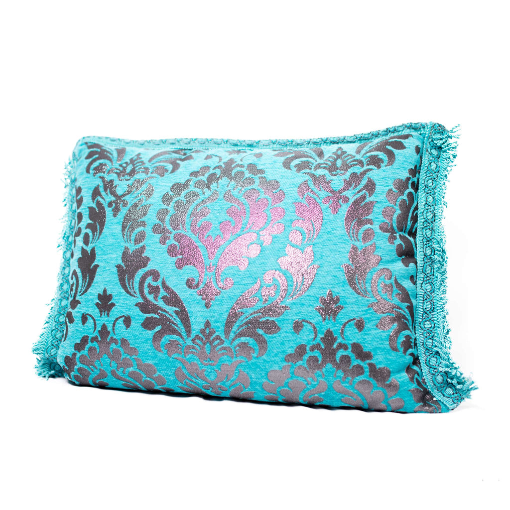 'Turquoise & Silver' Moroccan Cushion