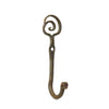 Wrought Iron Hook with Small Spiral