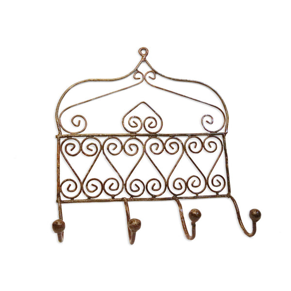 Wrought Iron wall Hook x4