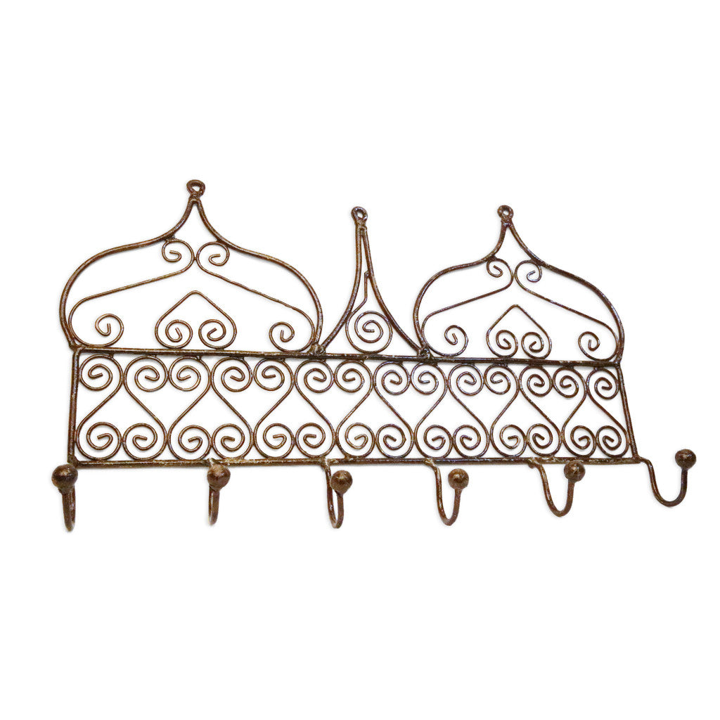 Wrought Iron Wall Hook (6 hook)