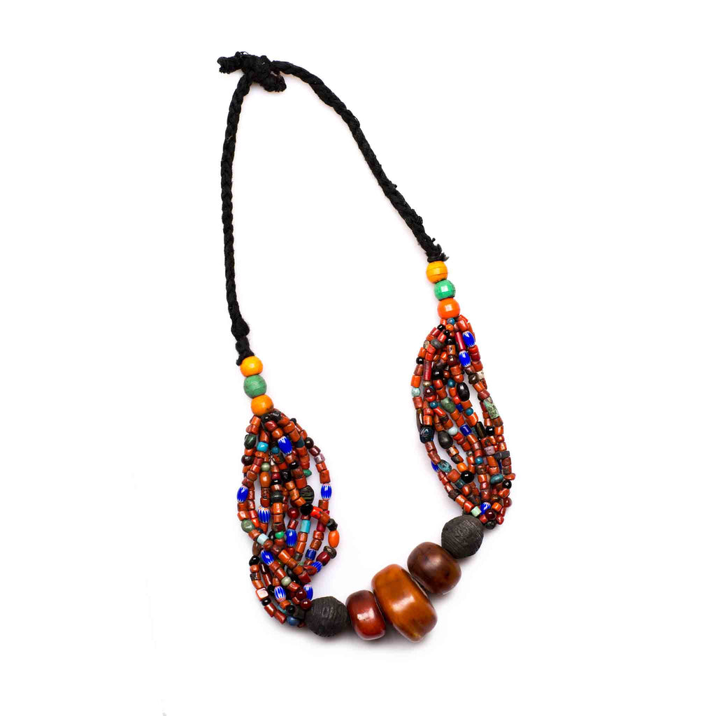 Mauritanian Amber Beaded Neck Piece