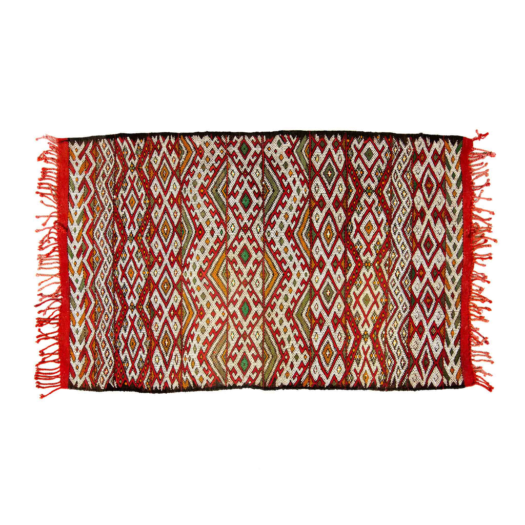 'Sweet Safa' Beni Mguild Kilim - Kahina Collection (0.84m x 1.4 metres)