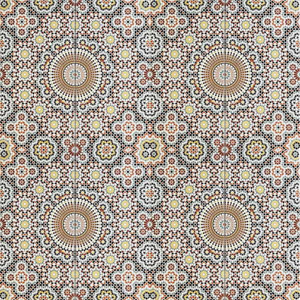'Arabesque Floret' Moroccan Printed Ceramic Wall Tile