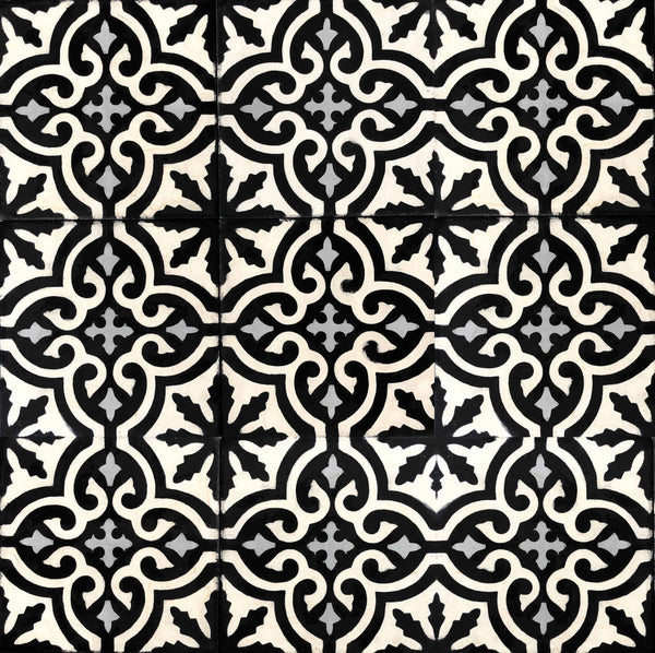 'Taznakht Night' Moroccan Encaustic Tile