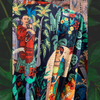 """Frida in the Jungle"" Kimono in Noir"