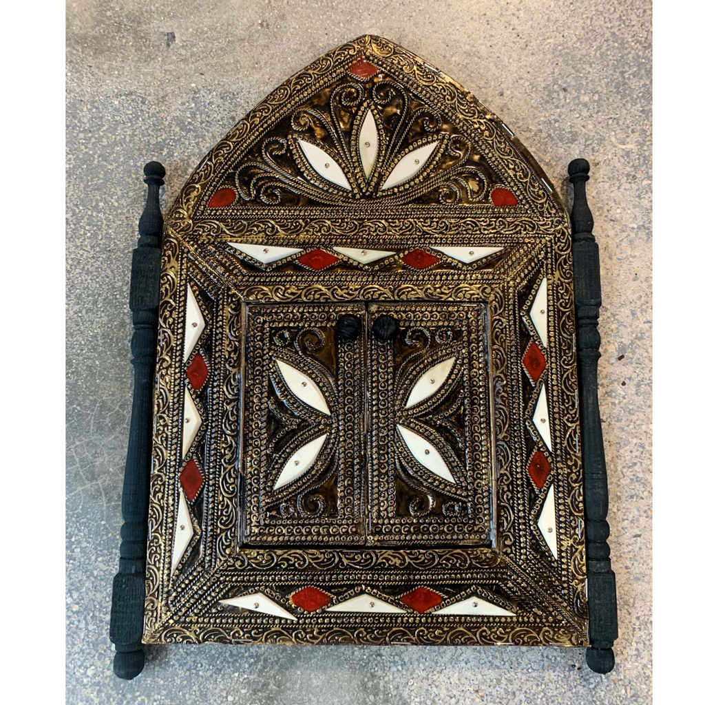 Red and white mosque Door Mirror