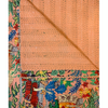 'Frida in the Jungle' Kantha Quilt - Peach Dream