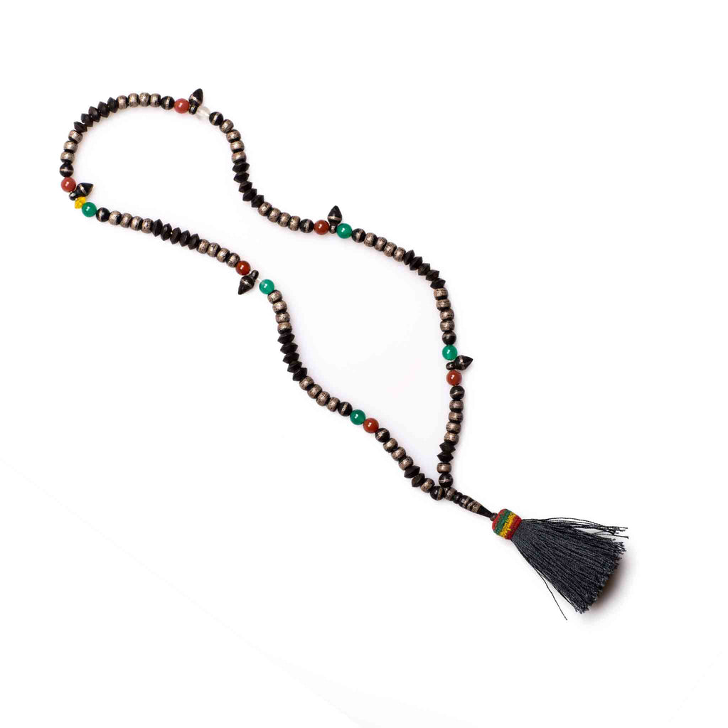 Mauritanian Ebony/Silver wire inlay Prayer Beads