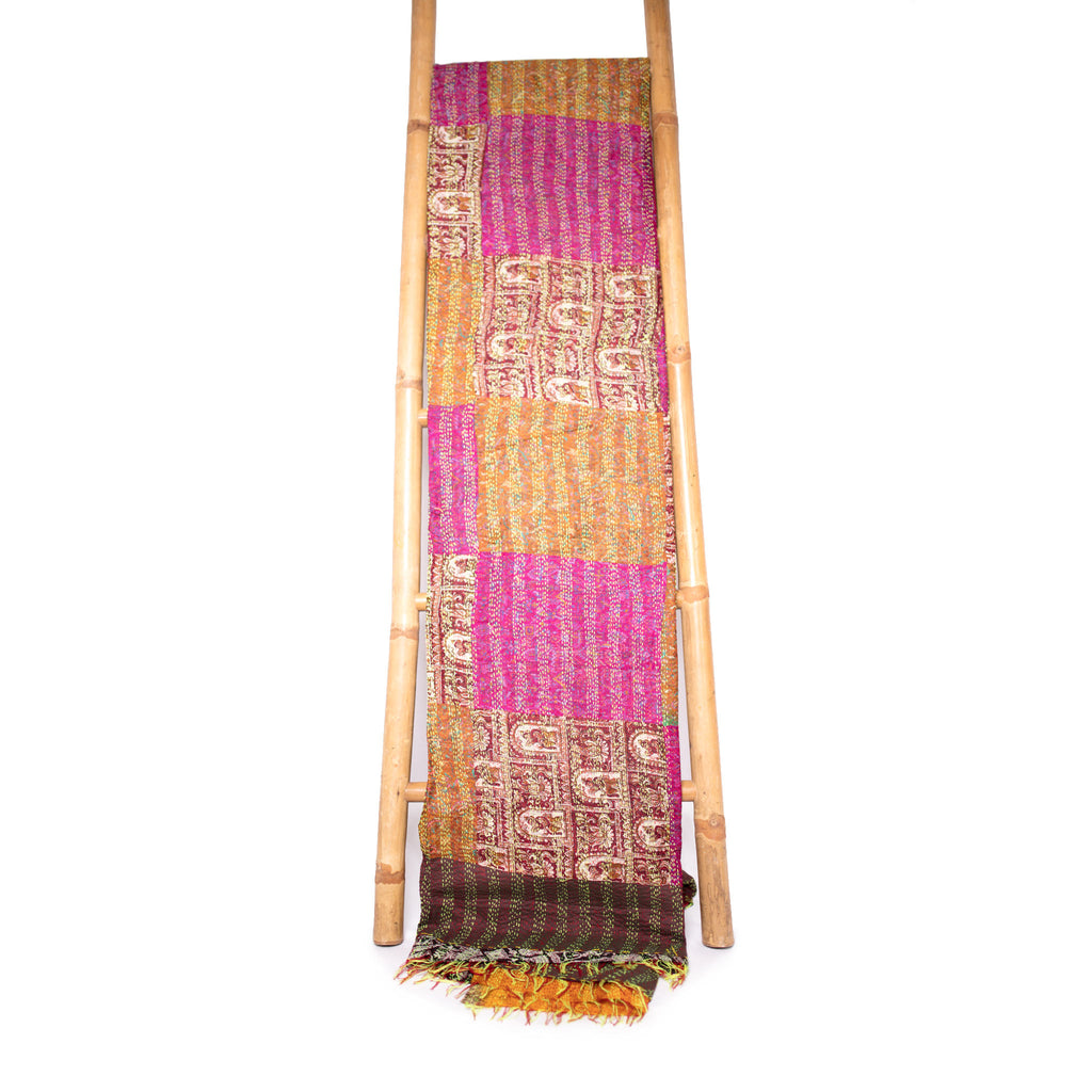 Patola Silk Sari Throw 'Sunset soul'