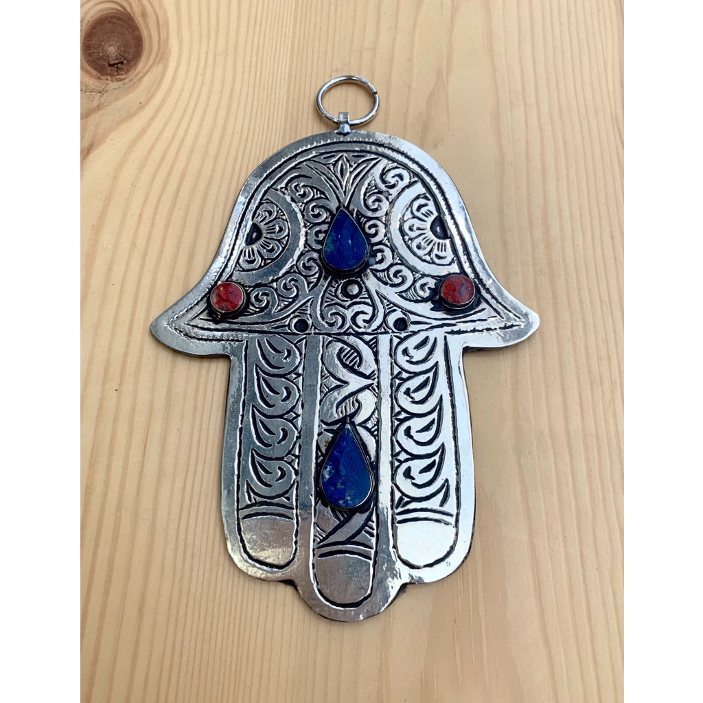 Arabesque & Resin Hamsa Hand