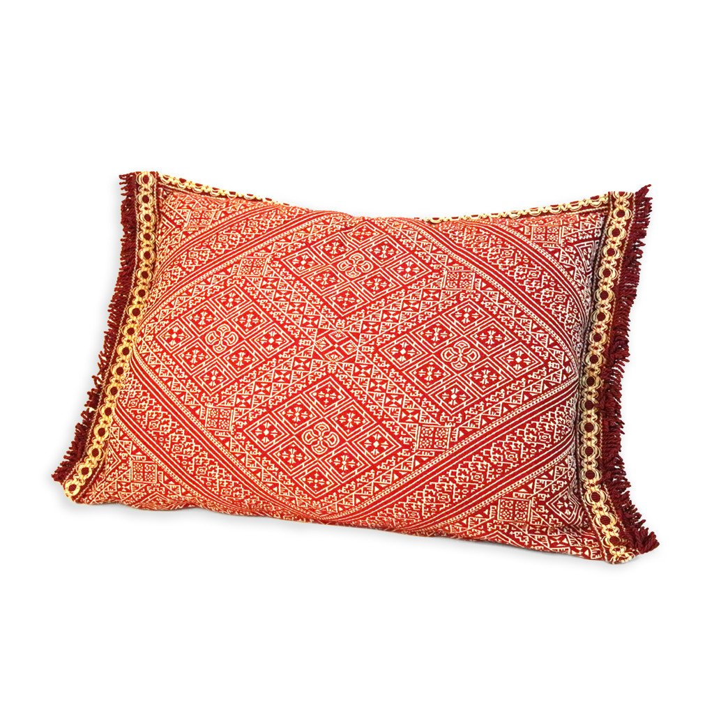 'Red & White' Moroccan Cushion