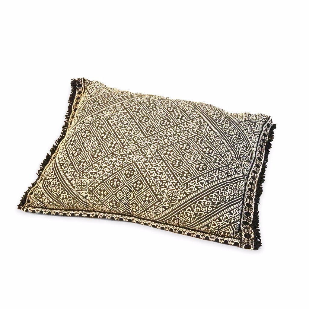 'Black & White' Moroccan Cushion