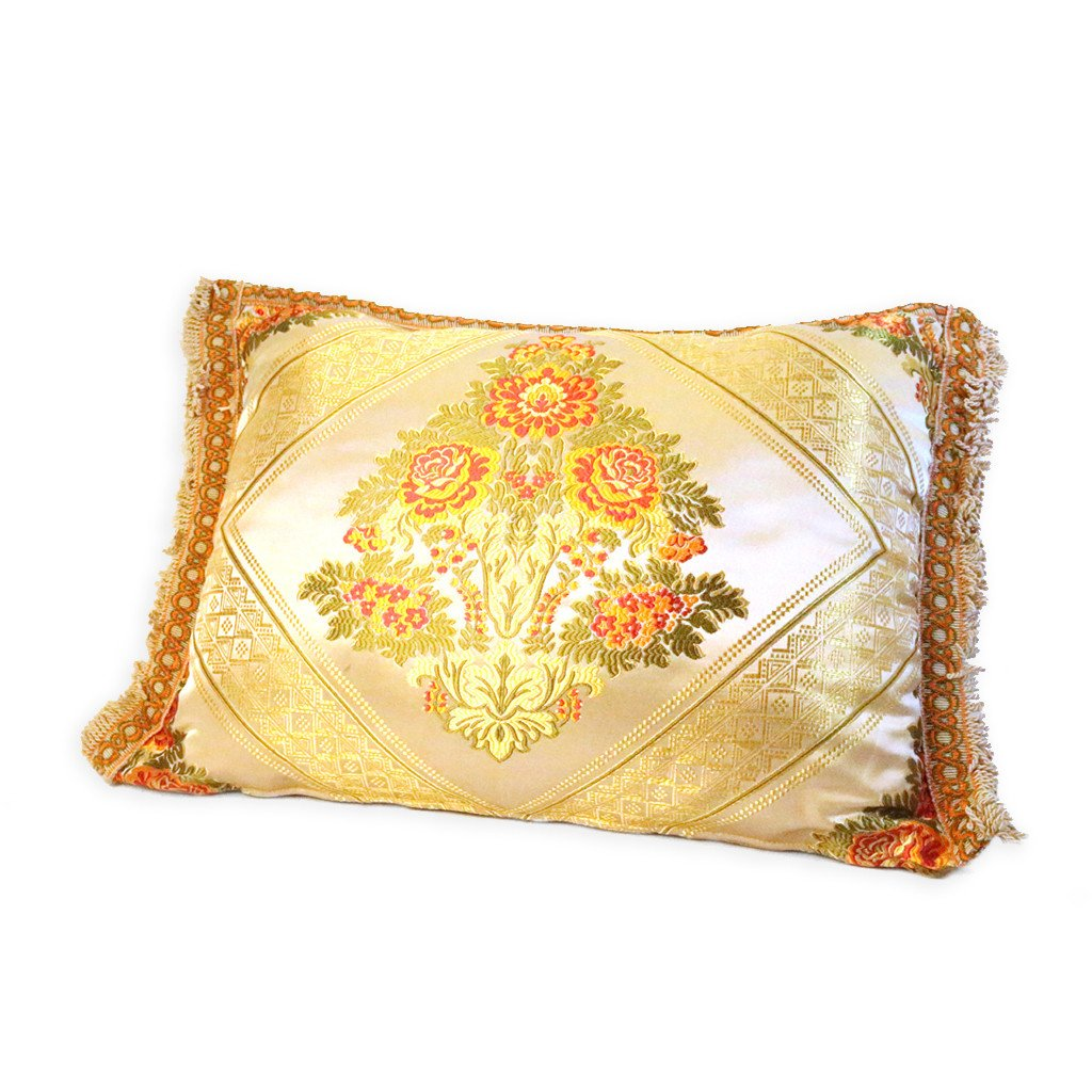 'Gold Floral' Moroccan Cushion