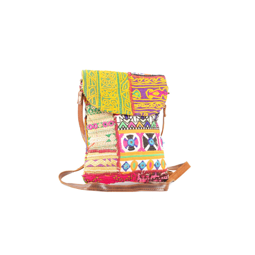 'Pathika' Passport purse in candy stripe