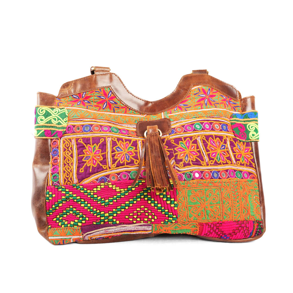 'Mahila' Shoulder Bag Hibiscus
