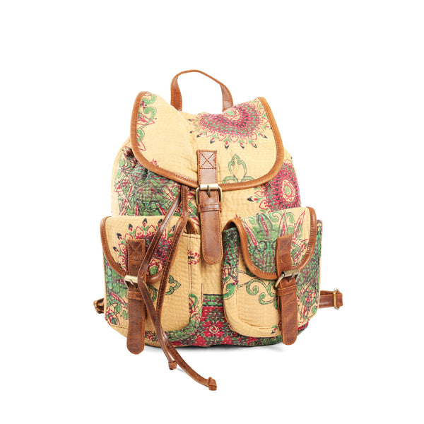 ' Mitali Ruck Sack' Kantha and Leather