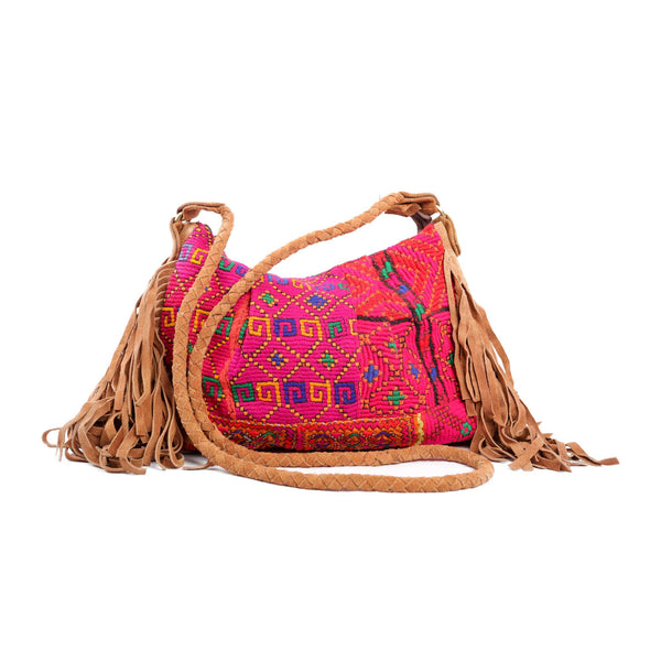 'Anjali Sling Bag' in Magenta