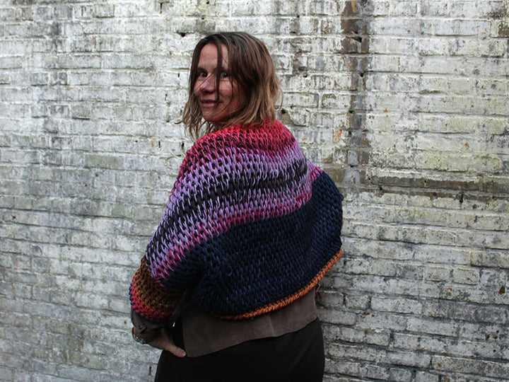 Tunisch gehaakte shrug - full stitch