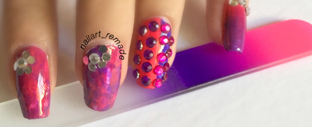 @nailart_remade showcases Bona Fide Beauty's New Drop Ergofile Set on Instagram