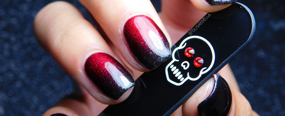 Ella from @polishedella reviews BFB's New Release Red Skull Manicure Nail File.