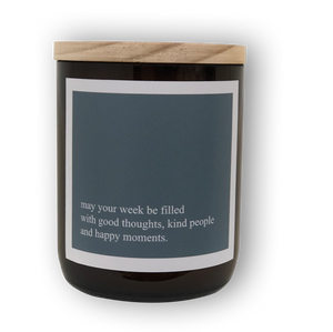 Heartfelt Quote Candle - Good, Kind, Happy