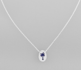 Silver Paradise Palm Necklace