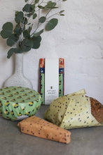 Load image into Gallery viewer, ASSORTED 3 PACK- SUSTAINABLE BEESWAX FOOD WRAPS - Roma Gift & Gourmet