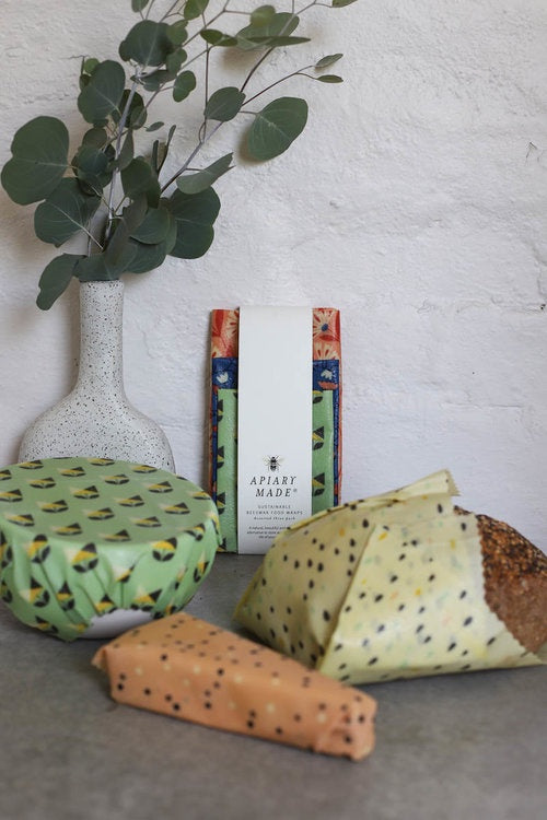 ASSORTED 3 PACK- SUSTAINABLE BEESWAX FOOD WRAPS - Roma Gift & Gourmet