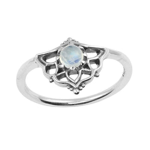 Mystic Shield Ring Rainbow Moonstone - Roma Gift & Gourmet