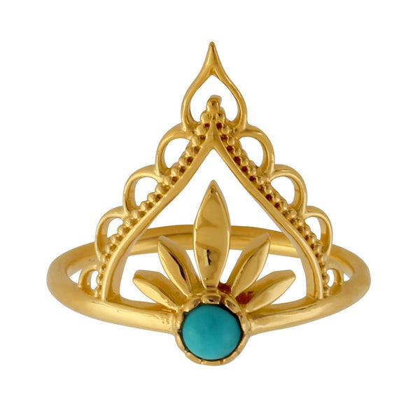 Gold Guidance Turquoise Ring