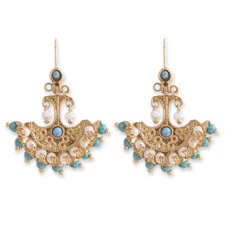Gold Plated Mila Earring - Roma Gift & Gourmet