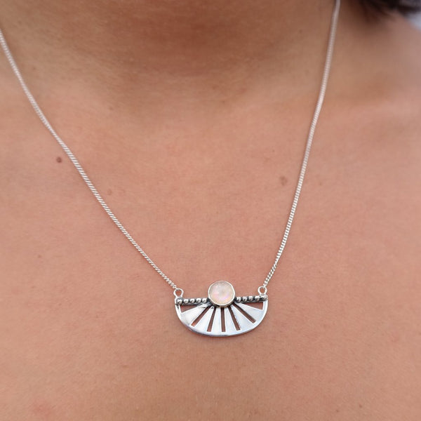 Adrift Silver Moonstone Necklace
