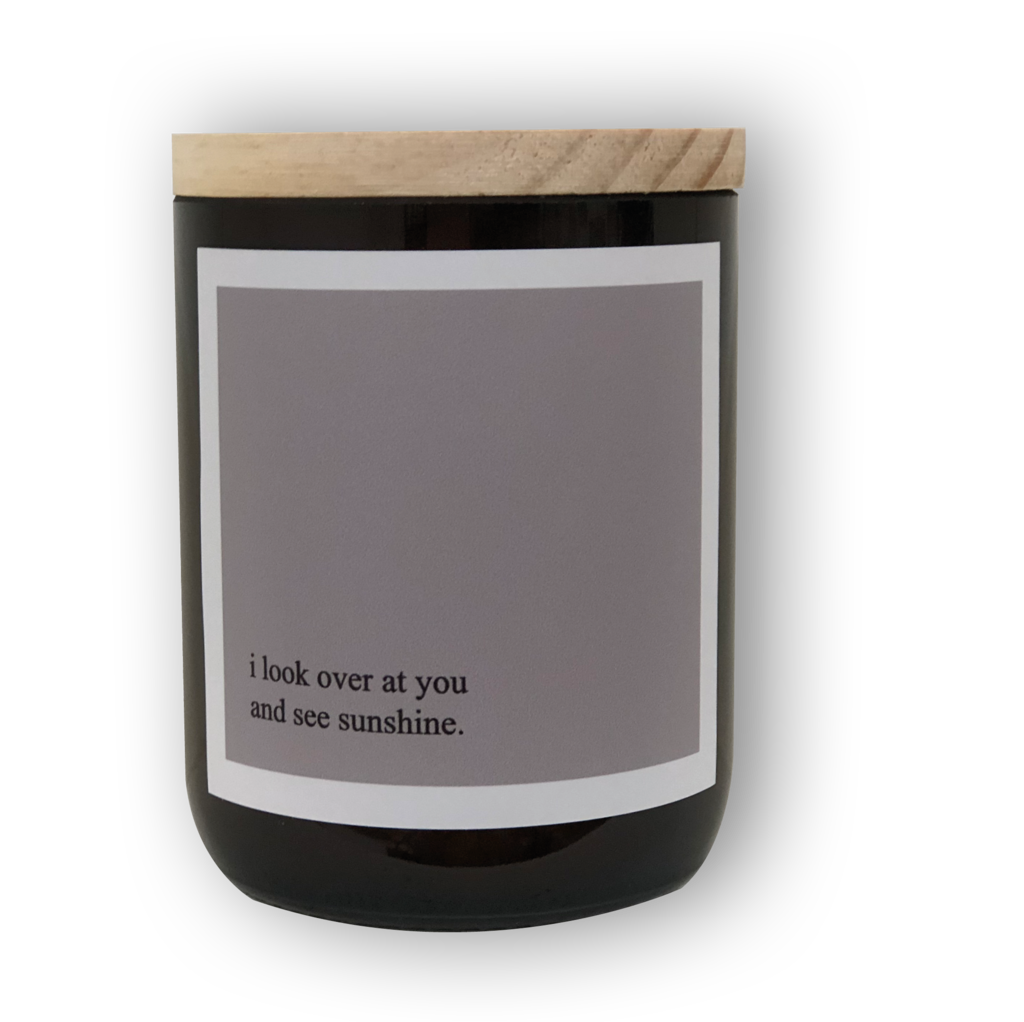 Heartfelt Quote Candle - Sunshine