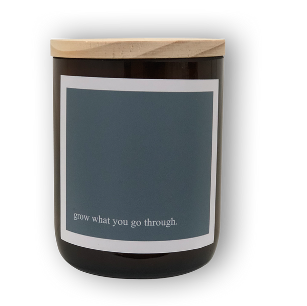 Heartfelt Quote Candle - Grow
