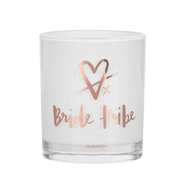 Rose Gold Bride Tribe Candle