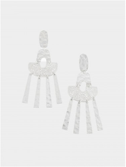 Silver Filigree Hammered Earring